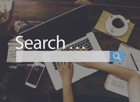Szukaj Seo Online Koncepcja Web przeglądanie Internetu