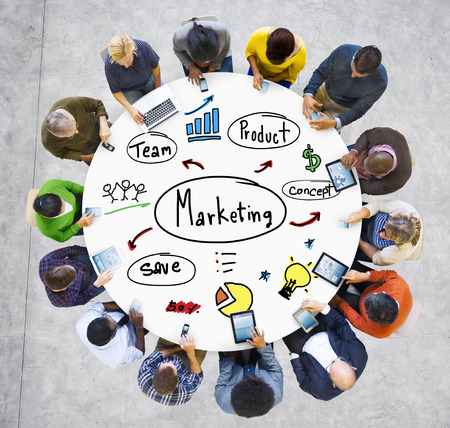 seach: Marketing Strategy Team Business Commercial Advertising Concept Stock Photo