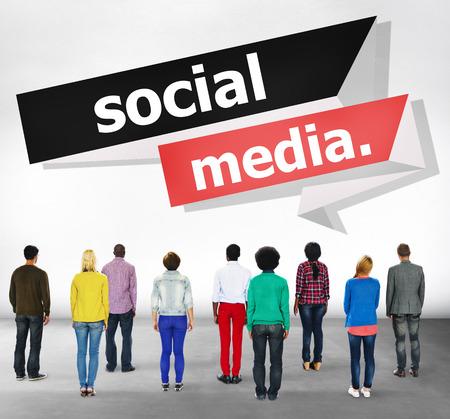 a communication: Social Media Communication Internet Network Concept