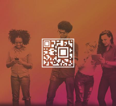qr code: QR Code Price Tag Coding Encryption Label Merchandise Concept