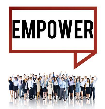 and authority: Empower Empoderamiento Permiso Autoridad Mejorar Concepto