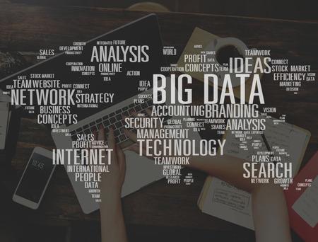 share information: Big Data Storage Online Cloud Data Center Web Concept