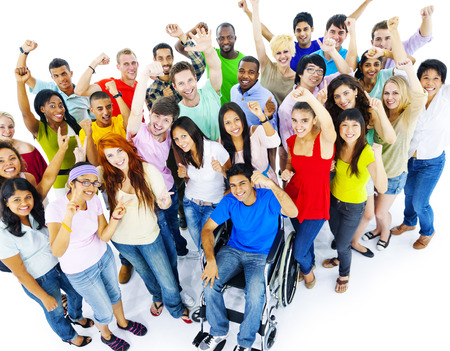 Diversity People Crowd Friends Communication Concept Stock Photo