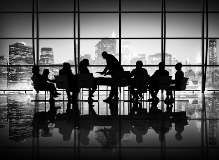 team leader: Business People Meeting Discussion Communication Concept Stock Photo