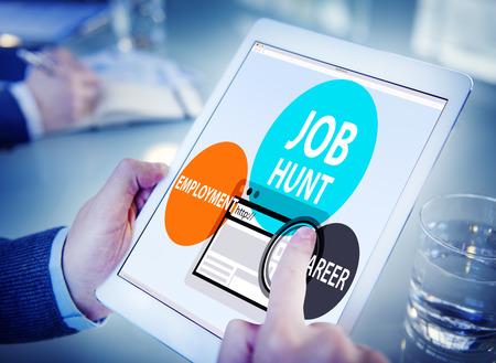 place of employment: Job Hunt Employment Career Recruitment Hiring Concept