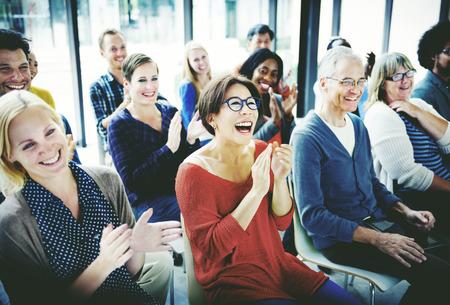 Diverse Zaken Mensen Vergadering Seminar Concept