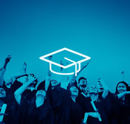 GRADUADO: Mortero Educación Junta Sabiduría Conocimiento graduación Concepto