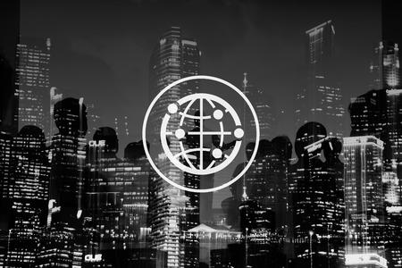 接続されているグローバルなコミュニティ国際世界中の世界 写真素材