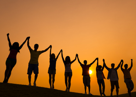unity: Group Multiethnic Diverse Colorful People Ethnic Concept Stock Photo