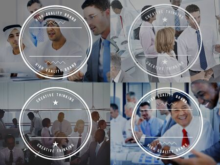 creative thinking: Business People Meeting Discussion Branding Creative Thinking Concept Stock Photo