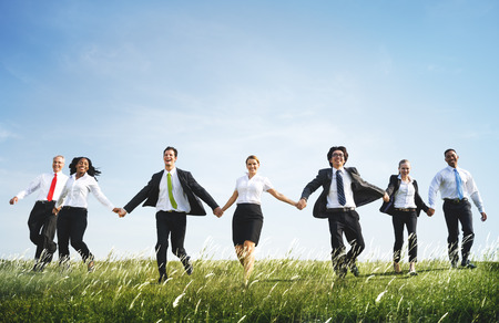 Business People Corporate Team Togetherness Holding Hands Concept