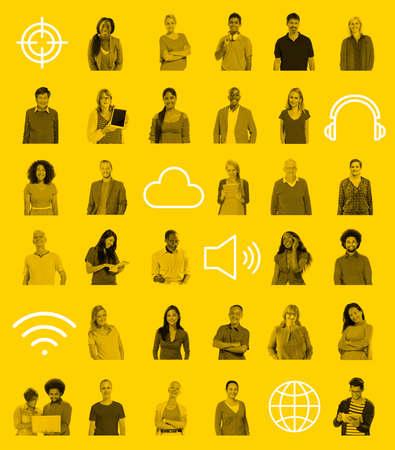 comunidad: Conexión Personas Tecnología Comunidad Redes Concepto Foto de archivo