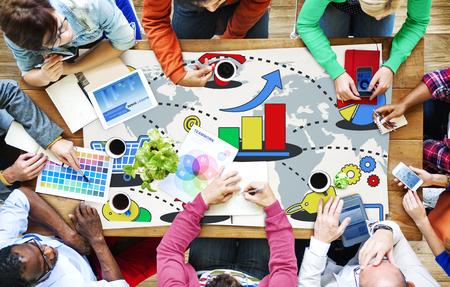 konzepte: Marketingstrategie Branding-Werbung Werbung Plan-Konzept
