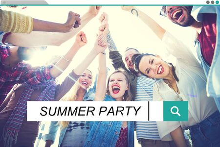 summer party: Summer Party Freedom Happiness Holiday Concept