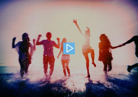 start play: Play Start Button Multimedia Concept
