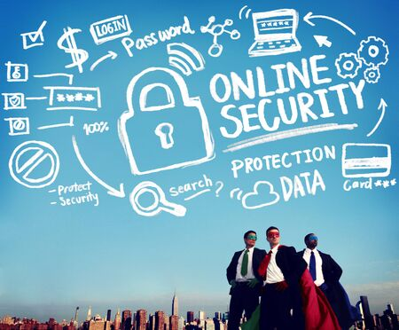 online privacy: Online Security Password Information Protection Privacy Internet Concept