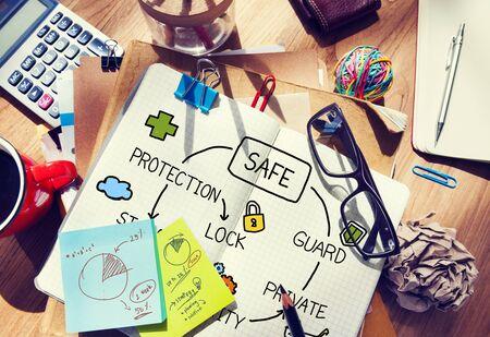 guardia de seguridad: Almacenamiento de Protección de Datos de seguridad Guardia de seguridad Concepto