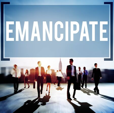 �mancipation: Emancipate Emancipated Emancipation Freedom Concept Banque d'images