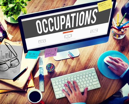 career: Occupations Career Job Employment Hiring Recruiting Concept