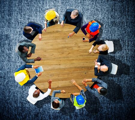 constructive: Business People Conference Meeting Discussion Concept Stock Photo