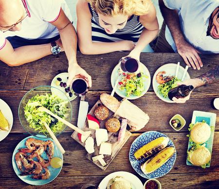 almuerzo: Alimentos Almuerzo celebraci�n de la fiesta Sabores Concepto