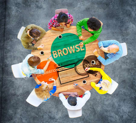 group search: Browse Browser Searching Information Connection Web Concept Stock Photo
