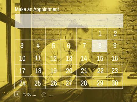 reminder concept: Make An Appointment Calender Reminder Concept