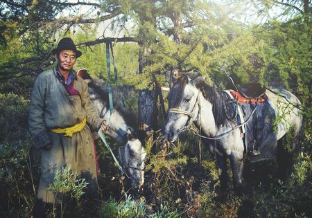 independent mongolia: Mongolian Tsataan Horses Tranquil Solitude Nomadic Concept