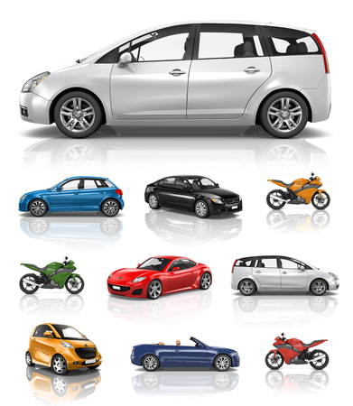 new generation: Transportation Vehicle Car Motorcycle Performance Concept Stock Photo
