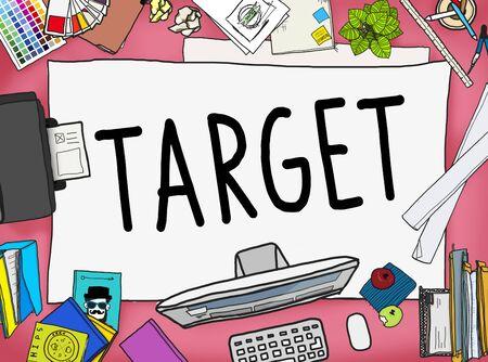aspiration: Target Aim Goal Marketing Mission Aspiration Concept Stock Photo