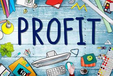 earning: Profit Earning Benefit Financial Revenue Concept Stock Photo