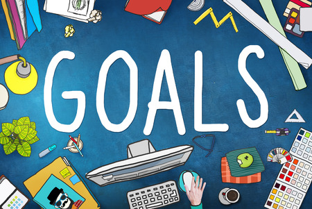 study table: Goals Aim Aspiration Anticipation Target Concept