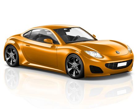 車車両輸送 3 D イラストレーションの概念