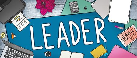 role model: Leader Leadership Manager Management Director Concept Stock Photo