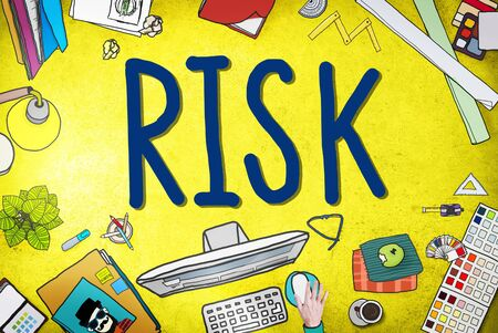 probability: Risk Management Investment Finance Security Concept Stock Photo
