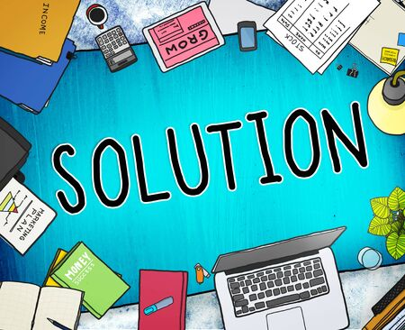 breaking new ground: Solution Innovation Progress Strategy Decision Concept