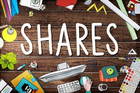 shares: Shares Sharing Help Give Dividend Concept Stock Photo