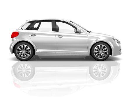 Car Vehicle Transport 3D illustratie Concept Stockfoto