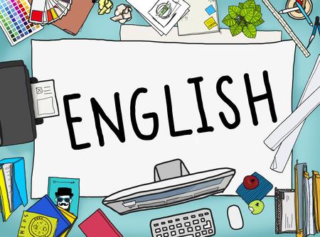 Inglés Británico Inglaterra Idioma Concepto de educación Foto de archivo - 49060158