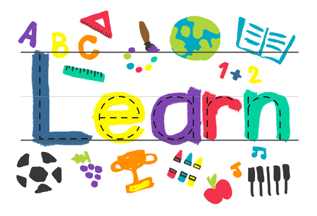 child of school age: Learn Learning Study Knowledge School Child Concept Stock Photo