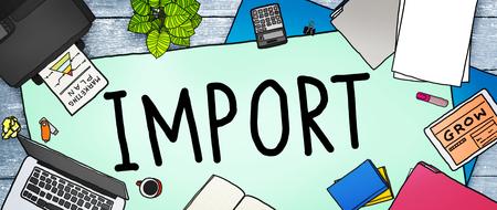 export import: Export Import Logistic Transportation Concept