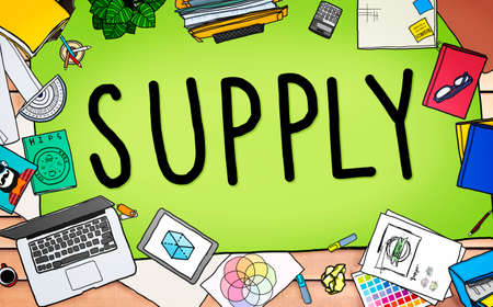printer drawing: Supply Production Strategy Distribution Business Concept