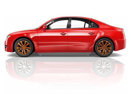 alloy wheel: Car Vehicle Transportation 3D Illustration Concept
