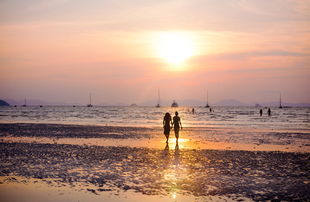 Couple Love Beach Romance Togetherness Concept Stok Fotoğraf