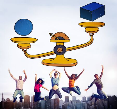 Circumstance: Possibility Balance Scales Circumstance Occasion Concept Stock Photo