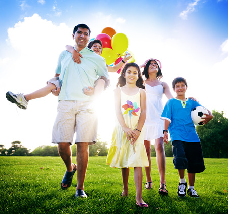 family day: Family Activity Outdoors Picnic Relaxation Concept