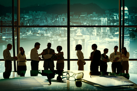 teamwork concept: Business People Working Discussion Teamwork Concept Stock Photo
