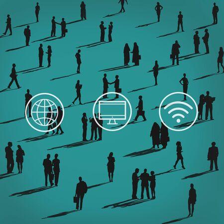 social gathering: Global Worldwide Digital Modern Connection Concept