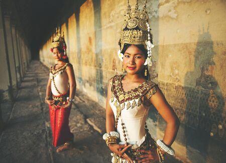 reap: Traditional Aspara Dancers Siem Reap Concept