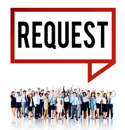 winning proposal: Request Require Desire Need Order Demand Concept Stock Photo